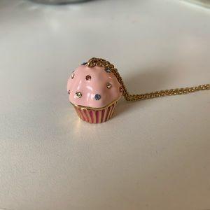 Kate Spade Take the Cake long cupcake necklace